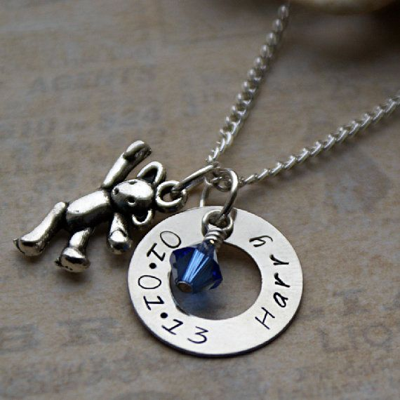 The 25 best personalised jewellery ideas on pinterest personalised baby gift keepsake necklace personalised jewellery gift for mums christening gift gift for new baby boys baby shower gift negle Choice Image
