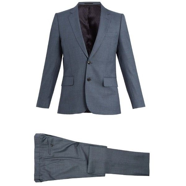 Paul Smith Single-breasted wool suit (1,140,085 KRW) ❤ liked on Polyvore featuring men's fashion, men's clothing, men's suits, grey, merino wool mens clothing, mens wool suits, mens tailored suits, mens grey suits and paul smith mens suits