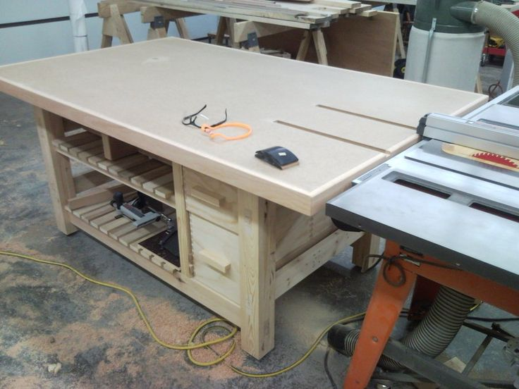 Tablesaw Outfeed Table - by Brett Gallmeyer @ LumberJocks.com ~ woodworking community