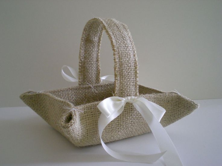 Льняная ткань, мешковина в декоре ...