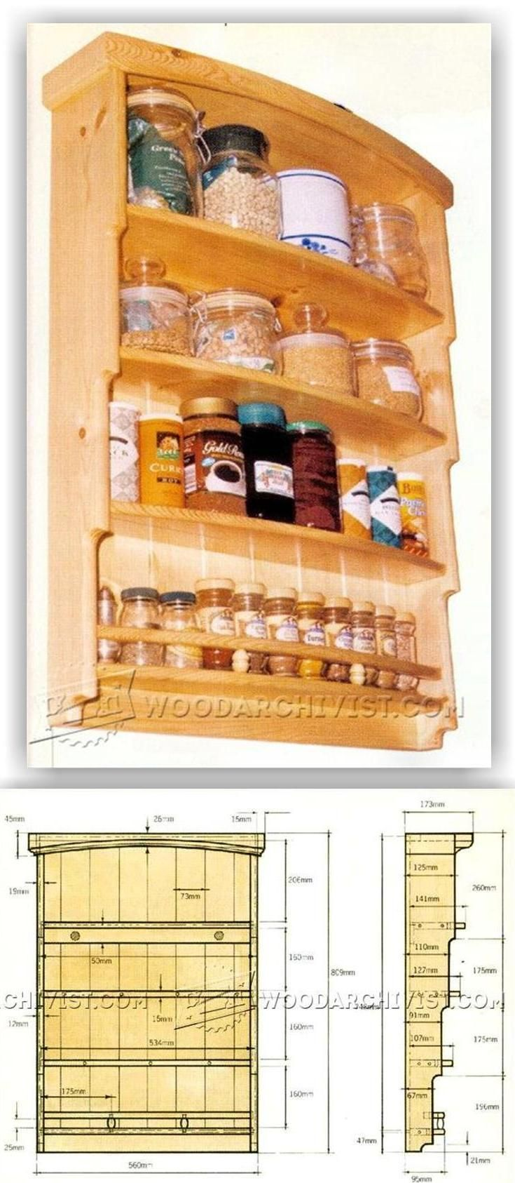 Spice Rack Plans - Woodworking Plans and Projects   WoodArchivist.com