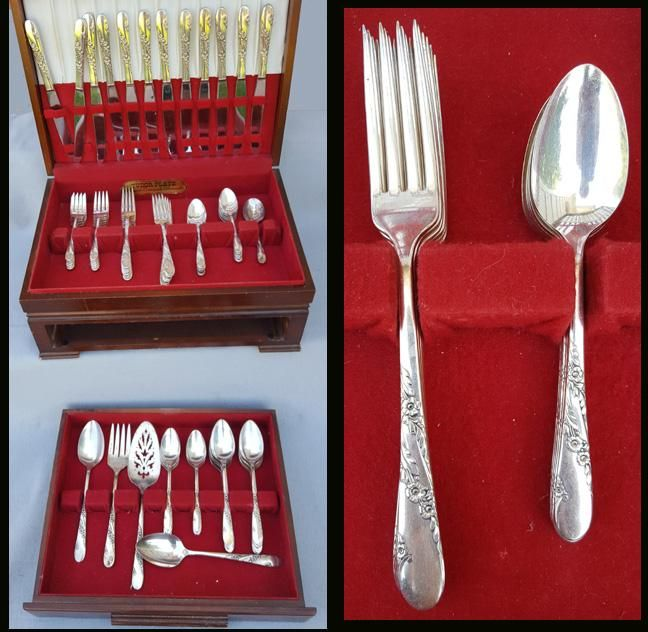 OLD COLONY 1911 LUNCHEON FORKS SET 4 SILVER PLATE BY 1847 ROGERS BROS.