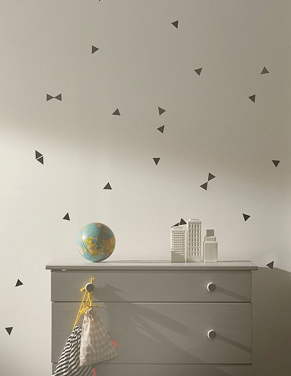 Ferm Living Mini Triangles muurstickerset - Ferm living kids