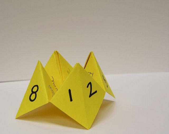 Paper Origami Fortune Teller