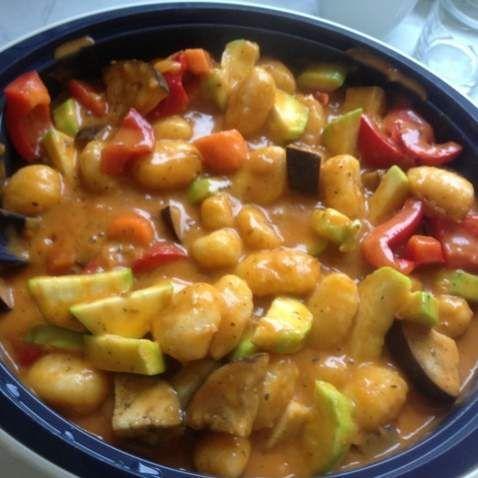 Rezept Gnocci Gemüse Pfanne (WW tauglich) von bella93 - Rezept der Kategorie Hauptgerichte mit Gemüse