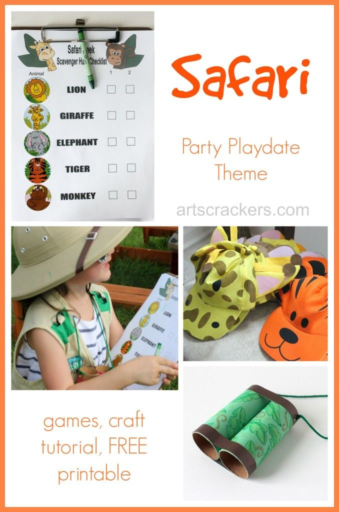 Safari Themed Playdate And Free Printable Crafts Colors