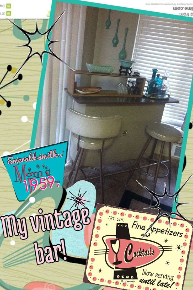 My 1959 vintage bar , I got last week ,, still working on the  Background ,, but I'm loving it ,, It's a fun peace to have in my home  Even If I'm not a big drinker ,  Gotta love it ,,;) <3 emerald smith ,