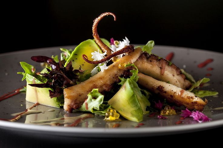 Grilled octopus by Jeremy Cayron