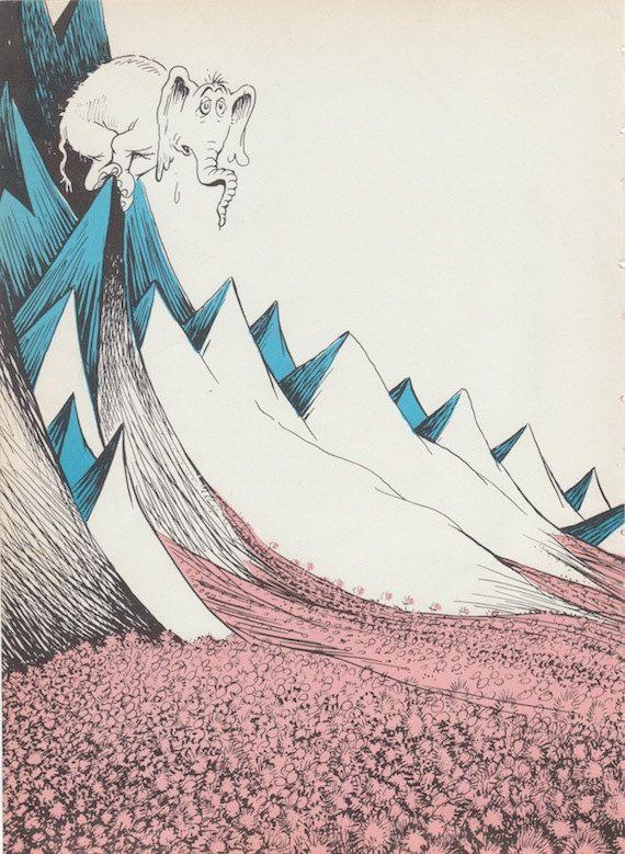 1950s Dr Seuss Vintage print Horton Hears a by AnemoneReadsCrafty, $5.00