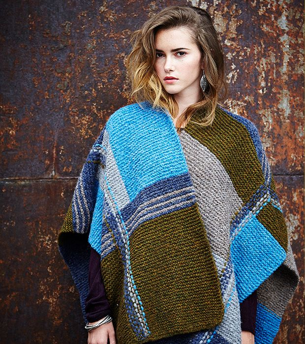 Autumn/Winter 2015 Trends: From Catwalk to Cast On - LoveKnitting Blog  FREE patchwork blanket cardigan knitting pattern by Rowan