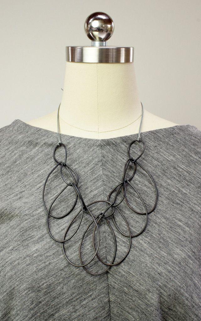 Melissa necklace // handmade steel statement necklace by megan auman