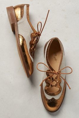 Miss Albright Curricula Cutout Oxfords Bronze 8.5 Oxfords