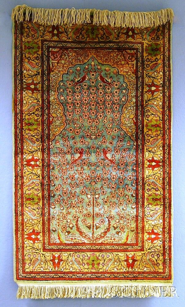 Kayseri Prayer Rug, Central Anatolia, contemporary, 4 ft. 10 in. x 2 ft. 9 in.