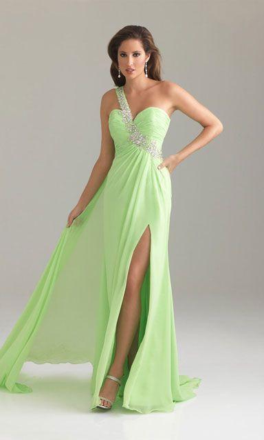 long prom dress green prom dress