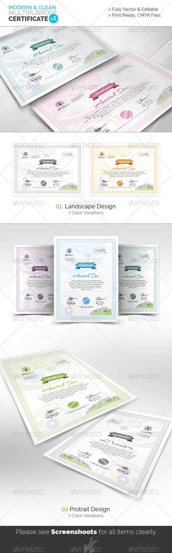 155 best Certificate Template Design images on Pinterest ...