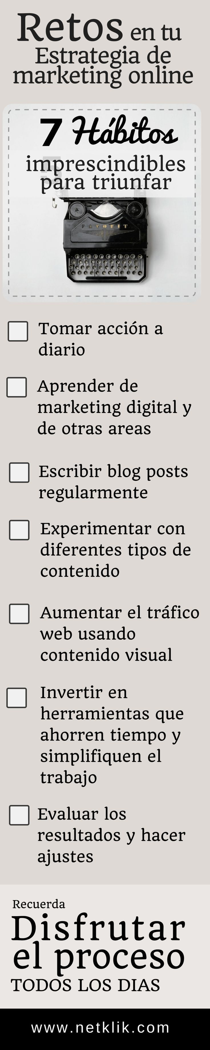 estrategias de marketing online checklist