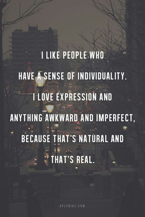 This is sooo me. I love people who are different. I love anything different and quirky :)