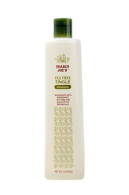 8 Trader Joe's Beauty Products That Are Actually Amazing #refinery29  http://www.refinery29.com/best-trader-joes-beauty-products#slide1  Now that winter is upon us, we're stocking up on this minty shampoo, which jumpstarts our senses as we lather up on cold and dreary mornings.   Trader Joe's  Tea Tree Tingle Shampoo, $3.99, available at Trader Joe's locations.