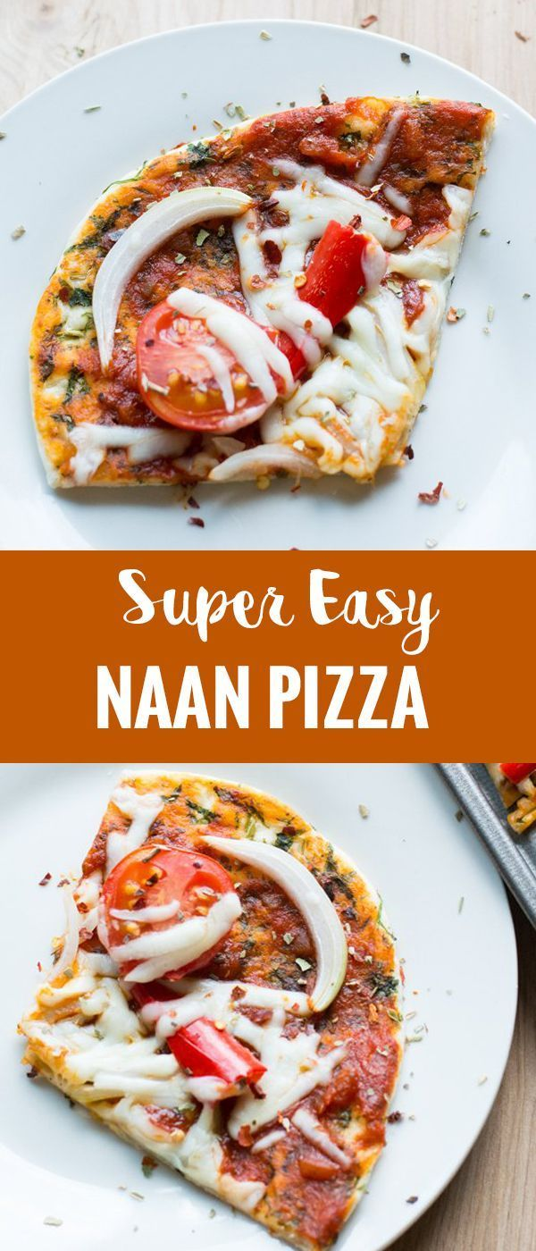 naan pizza a vegetarian recipe made toppings with garlic veggie mushroom mozzarella cheese and paneer in the oven bes naan pizza naan pizza recipes recipes pinterest