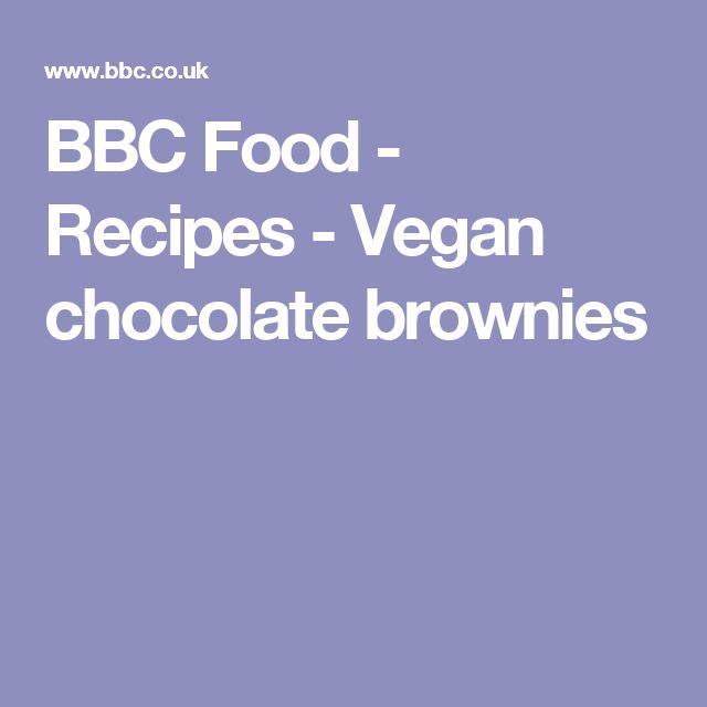 BBC Food - Recipes - Vegan chocolate brownies