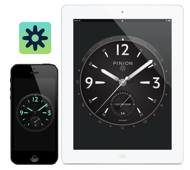 PINION Android Clock App - Available on iOS Apple iTunes: https://itunes.apple.com/gb/app/pinion-clock/id736269900?mt=8