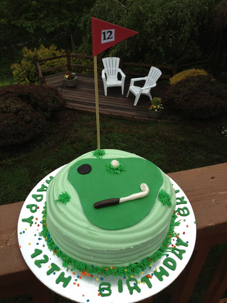 Golfing Cake - Made by Robin Blake