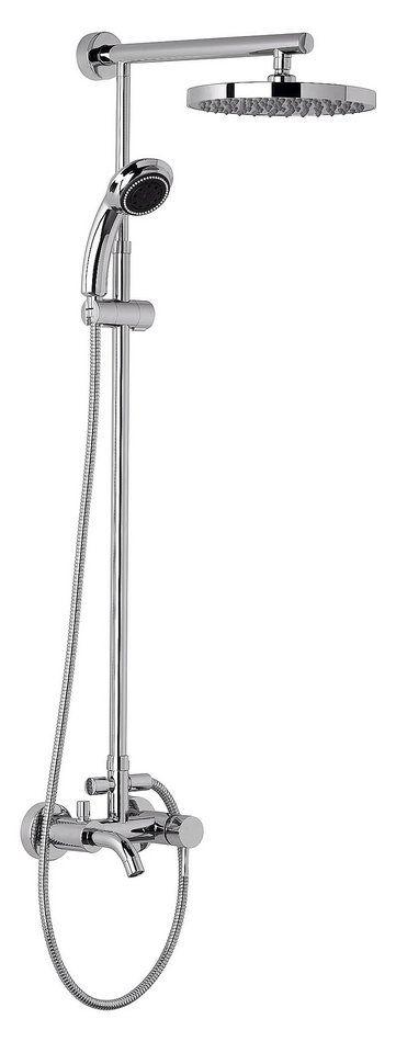 Duschsystem »Rain«, 25 cm für 299,99€. Mit Badewannenarmatur, Inklusive Umsteller zwischen Hand- und Tellerkopfbrause, Hochwertige Markenqualität bei OTTO