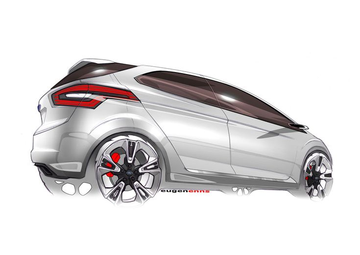 2009 Ford Iosis Max Concept Design Sketch
