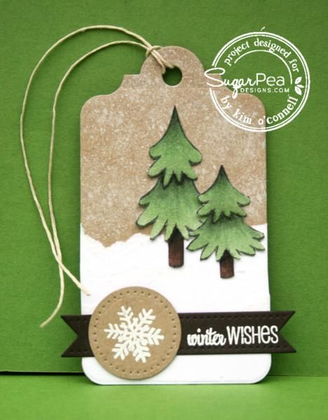 SPD11 - Winter Wishes Tag by MrsOke - Cards and Paper Crafts at Splitcoaststampers