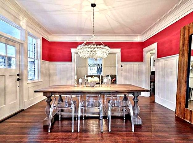 Amazing Dining Room Chandelier Board And Batten Rustic Table With Modern Ghost