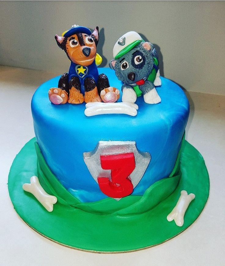 Paw patrol chase ,rocky cake