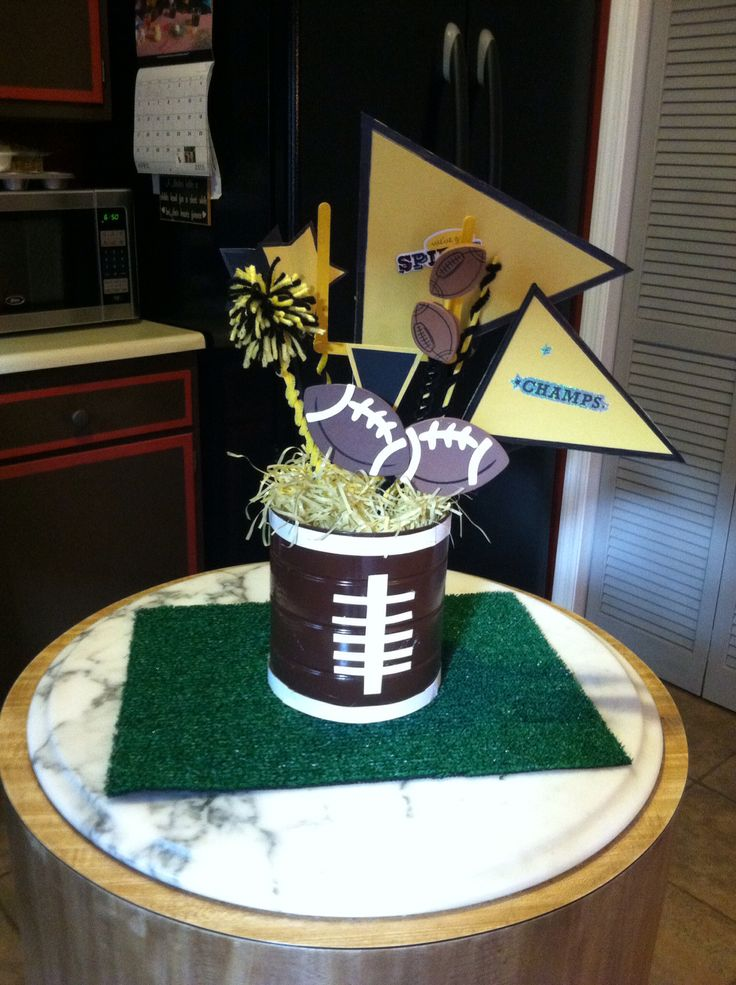 Best images about football banquet centerpieces on