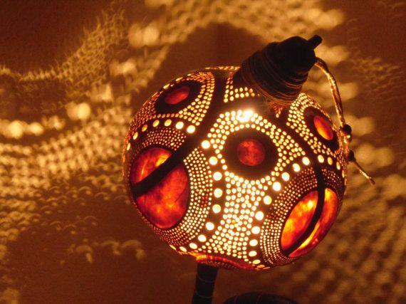 CHRISTMAS DECOR Gourd lamp Kürbislampe handcrafted Ottoman