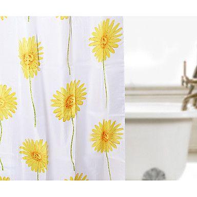 shower curtain polyester sun flower print w78 x l69 usd