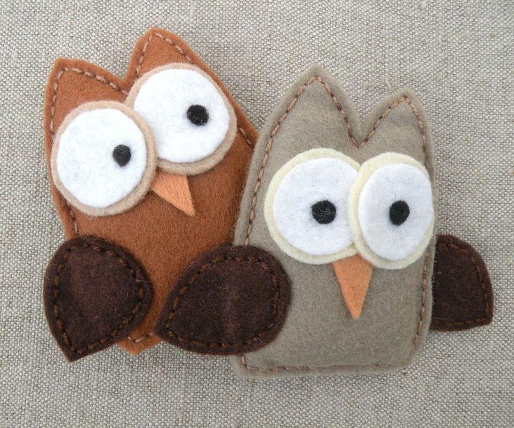 Cute Stuffie Owls Handmade Pins by Mayi Carles