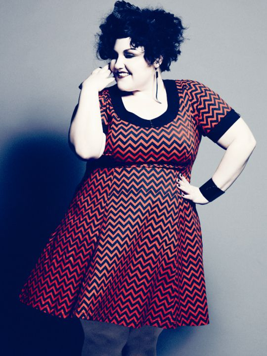 Beth Ditto is amazing, her voice is incredible and she couldnt give a flying suck what image sells she is who she is in all her big lesbian glory!!!!  Woman personified xx