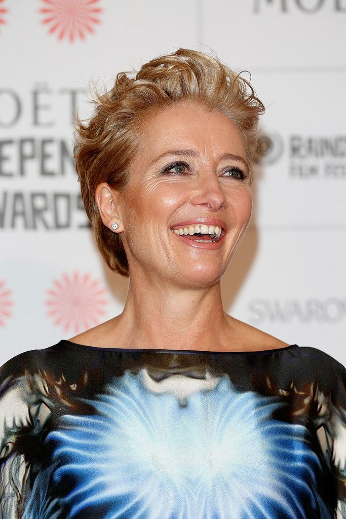 Emma Thompson attended the Moet British Independent Film Awards wearing her hair in a cool messy cut.