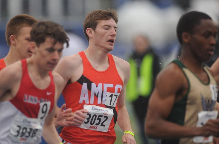 Ames' Lee Grim runs during the 1,600-meter run at the Drake Relay on Saturday in Des Moines. Photo by Nirmalendu Majumdar/Ames Tribune  http://amestrib.com/sports/drake-relays-notebook-ames-girls-land-two-top-six-relays