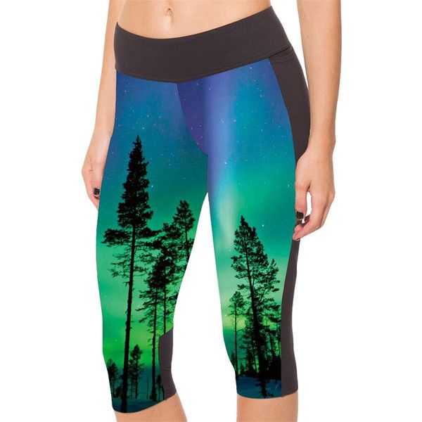 Blue Trees Printed Side Pockets Ladies Cropped Leggings ($11) ❤ liked on Polyvore featuring pants, leggings, blue, blue pants, legging pants, blue trousers, cropped trousers and cropped leggings
