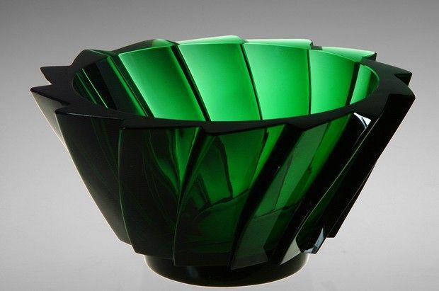 Elis Berg Bowl - Designer: Berg, Elis - Producer:Kosta - Year: 1930 (green glass) emerald