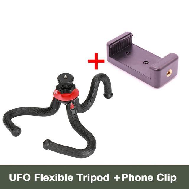 Ulanzi Portable Phone Camera Holder Flexible Octopus Travel Tripod Bracket Monopod Selfie Stick For Phone Camera Phonegraphy