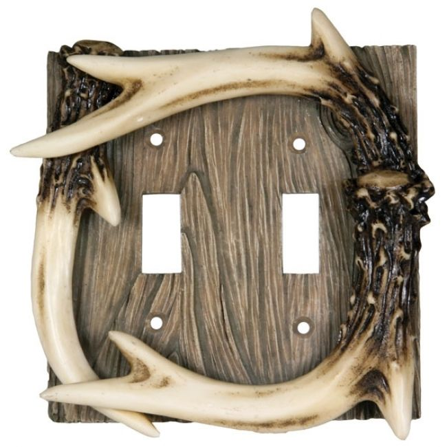 Double Light Switch Cover - Deer AntlerFor $9.99