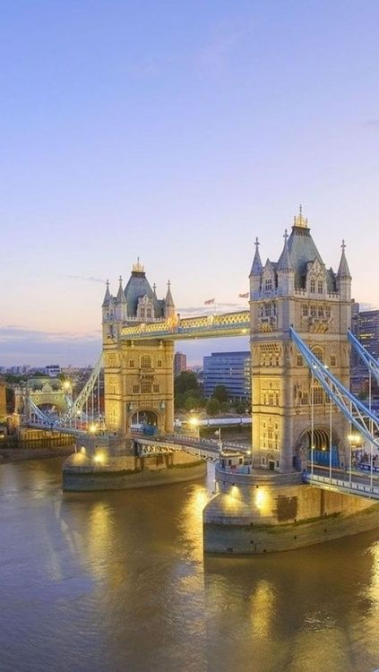 Tower Bridge - London, England. It now has a glass walkway between the towers huts opened to the public. Stunning views.