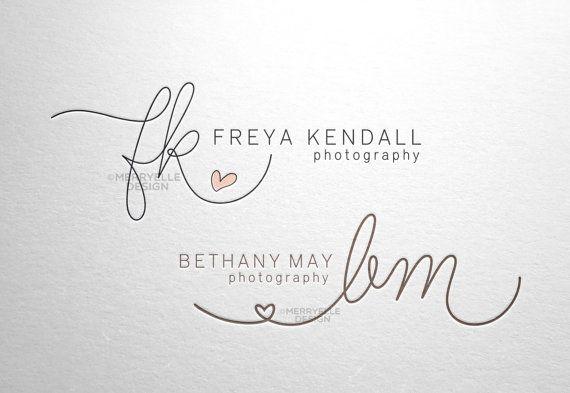 Handschriftliche Kundenlogo / Signatur design / Logo Initialen Herz - hand gezeichnete Herzen Initialen für Geschäftsgebrauch Business Logo Photography