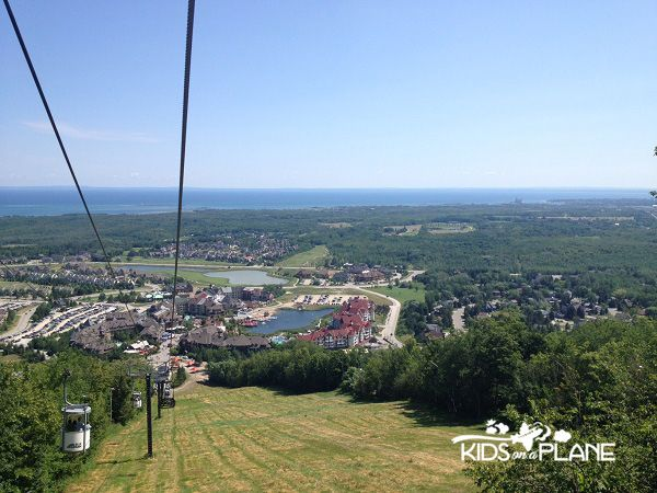 Riding in an Open-Air Gondola - Must Do Summer Activities for Kids at Blue Mountain Resort in Collingwood, Ontario  See more at http://kidsonaplane.com/destinations/10-must-do-summer-activities-for-kids-at-blue-mountain-resort  #collingwood #ontario #skiresort #summervacation #familytravel #travel #canada