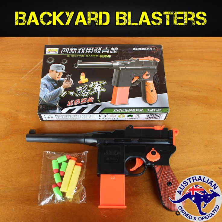 This Blaster is a 1:1 scale replica of the Mauser C96, which was first produced in Germany 1896. This toy blaster is a one of a kind, c apable of firing not only Nerf darts, but also small rubber bullets from its removable magazine! | eBay!