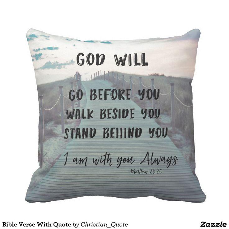 Bible Verse With Quote Pillow #pillows #faith
