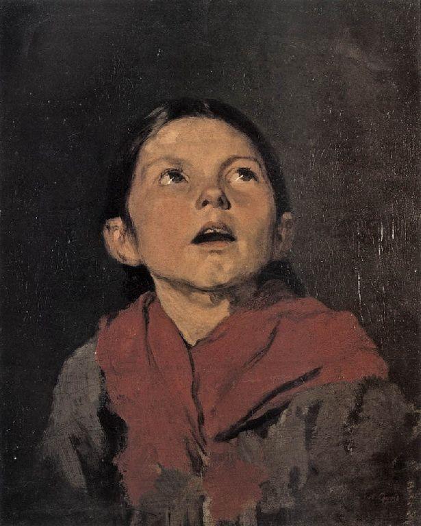 .:. Γύζης Νικόλαος – Gyzis Nikolaos [1842-1901] Κεφάλι κοριτσιού