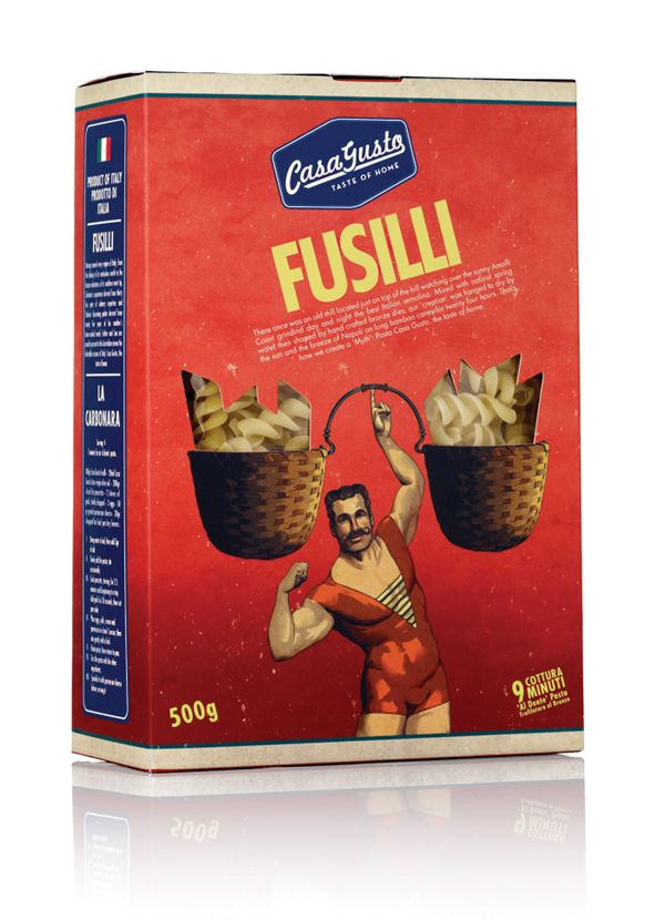 Italian circus packaging for Casa Gusto.  I'll take him IMPDO.