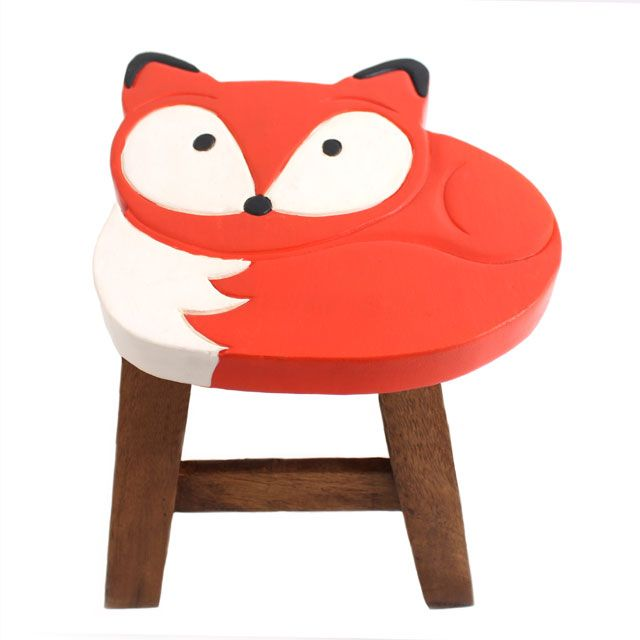 Cute Fox Stool, Kids Bedroom, Furnishings and Accessories, Toddler Baby Nursery Decor Ideas